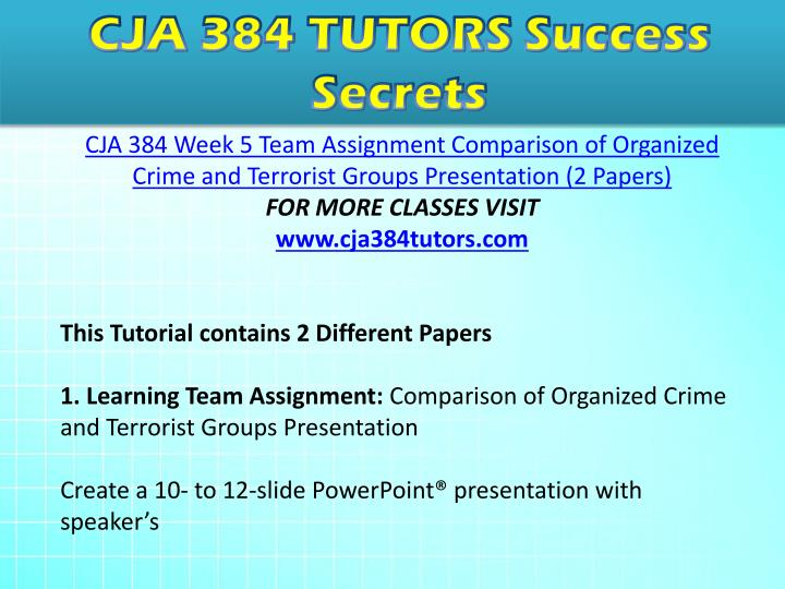 cja 393 controlling organized crime paper View essay - controlling organized crime paper from cja 343 at university of phoenix running head: controlling organized crime 1 controlling organized crime tina martin-fleming cja/384 february 19,.
