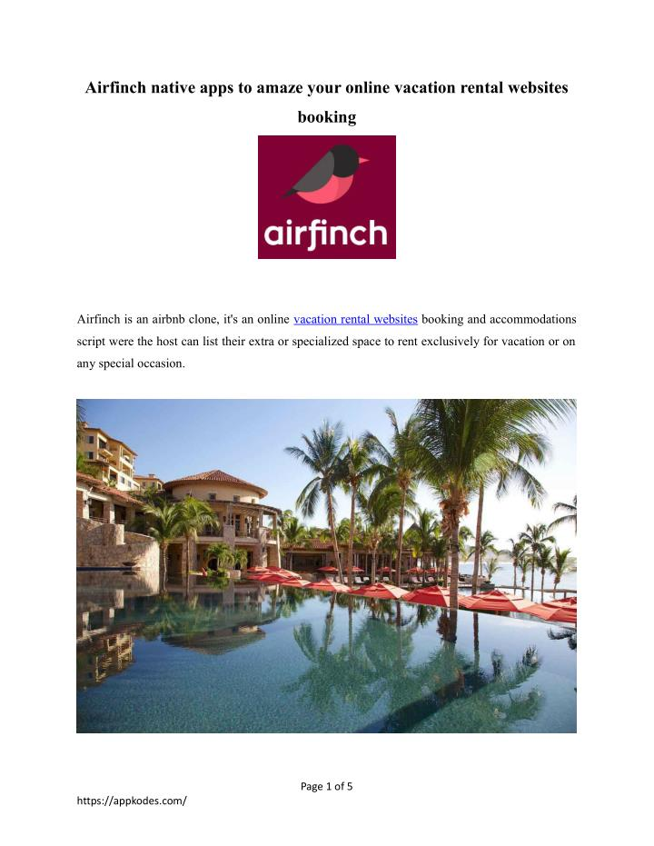airfinch native apps to amaze your online n.
