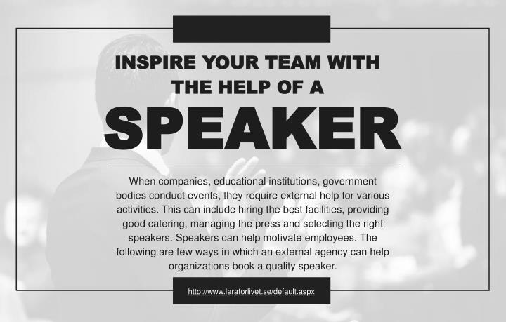 inspire your team with the help of a n.