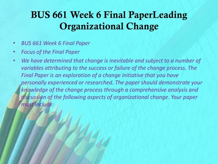 bus 661 week 4