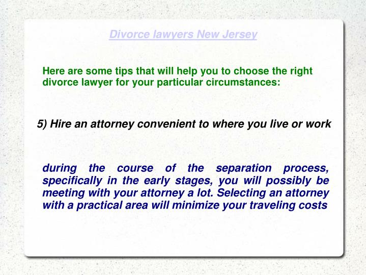 how to choose a divorce lawyer
