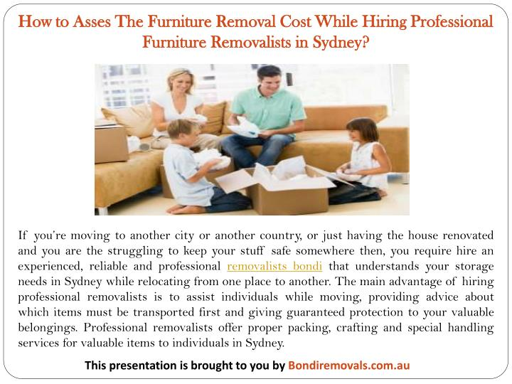 how to asses the furniture removal cost while n.
