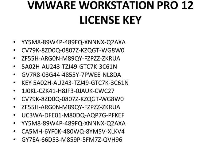 vmware license key 12