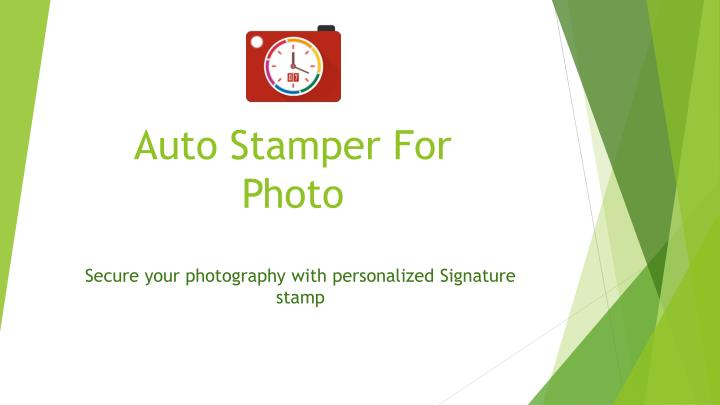 auto stamper for photo n.
