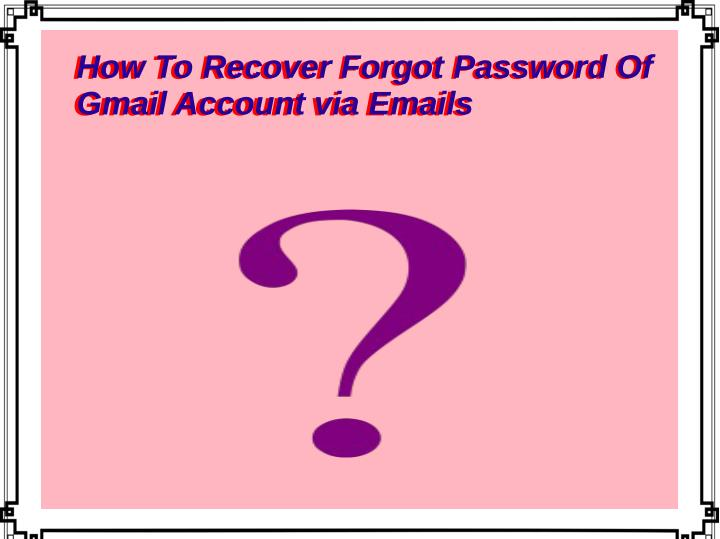 how to recover forgot password of n.