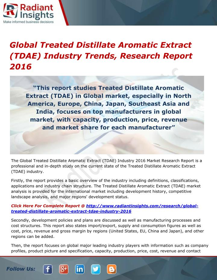 global treated distillate aromatic extract tdae n.