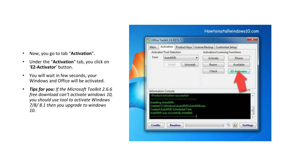 PPT - Microsoft Toolkit 2 6 6 Windows and Office Activator