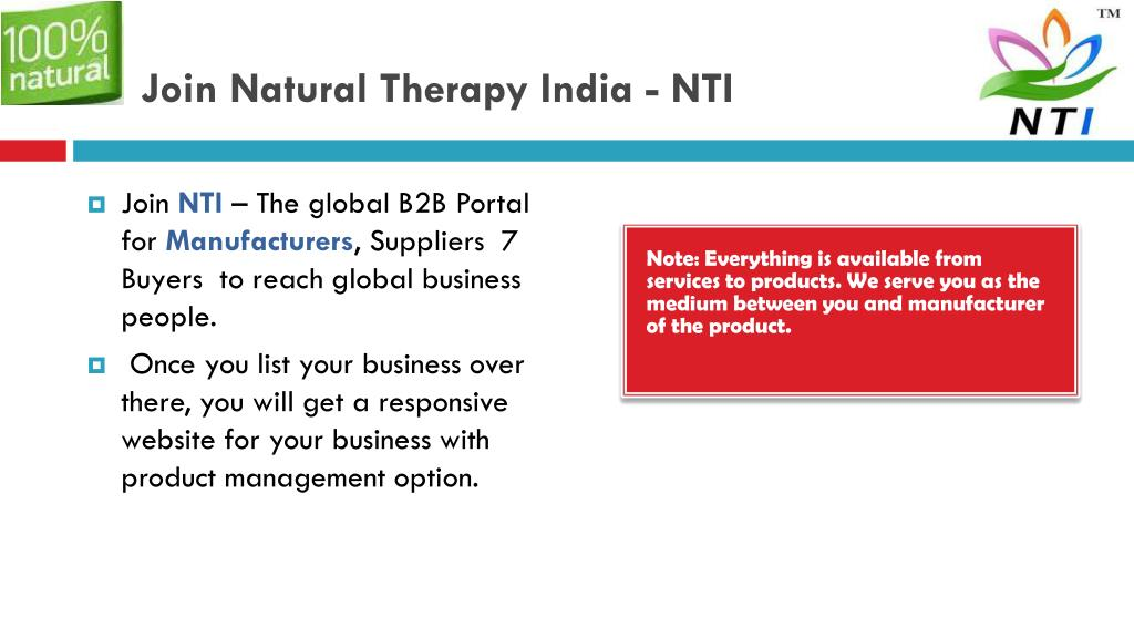 PPT - Nautural Products Manufacturers - Natural Therapy India