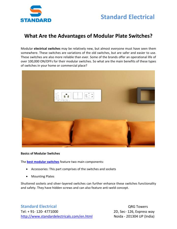 PPT - What Are the Advantages of Modular Plate Switches? PowerPoint ...