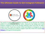 the ultimate guide to get instagram followers