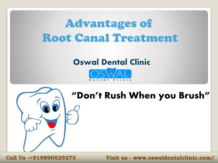 advantages of root canal treatment n.