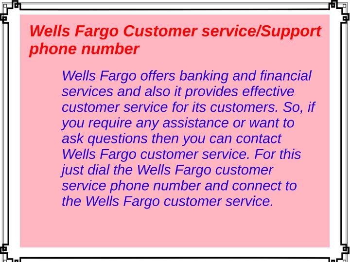 wells fargo customer service - Monza berglauf-verband com