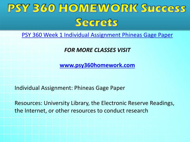 psy 360 phinneas gage