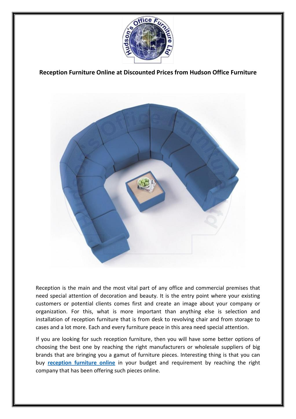 Ppt Reception Furniture Online At