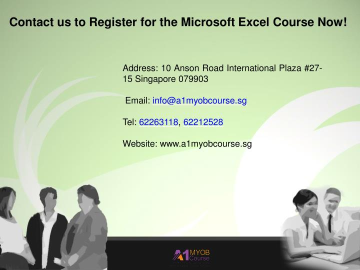 Ppt Best Microsoft Excel Courses In Singapore Powerpoint