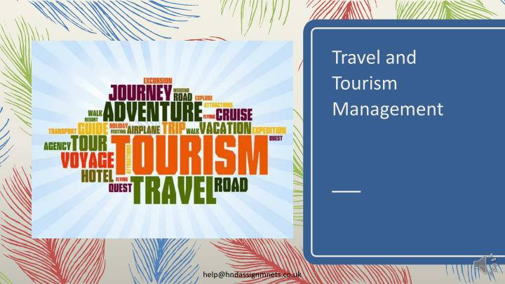 travel and tourism management n.