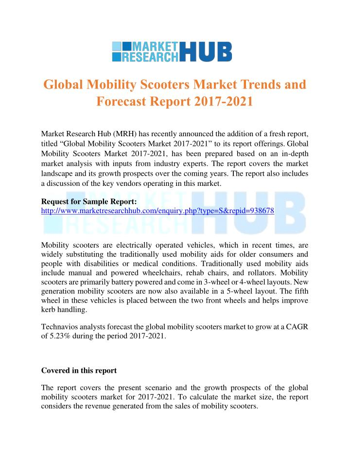 global mobility scooters market trends n.