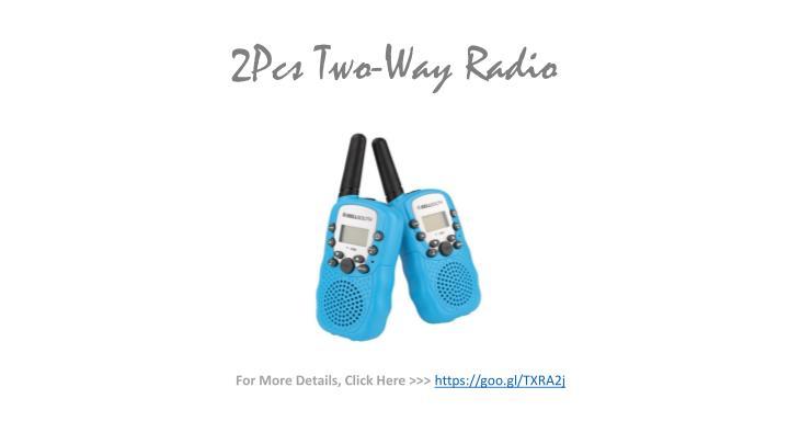 2Pcs Two-Way Radio