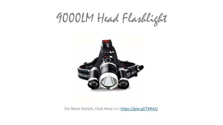 9000LM Head Flashlight