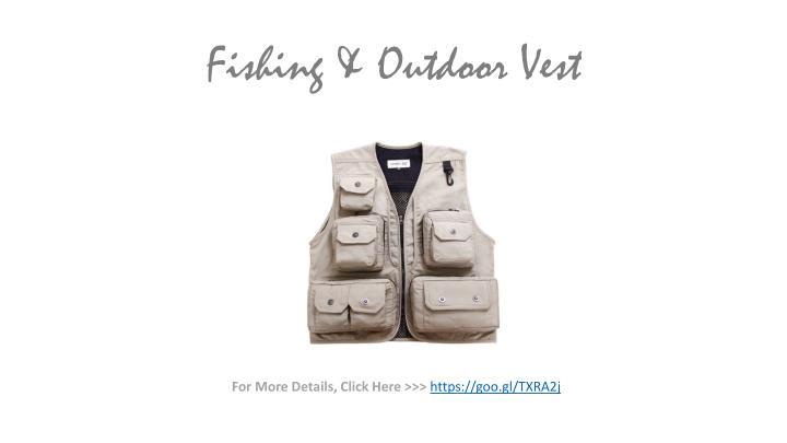 Fishing & Outdoor Vest