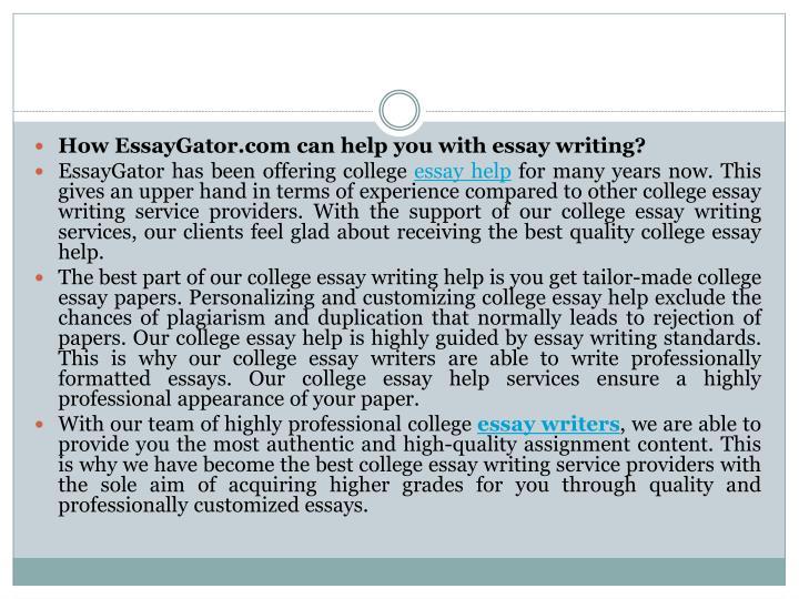 College writing service usa