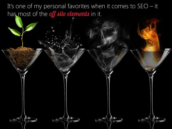 It's one of my personal favorites when it comes to SEO – it