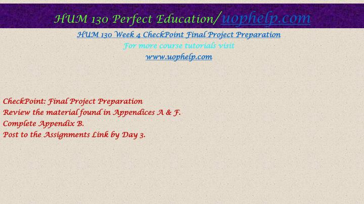 7 question final project plan hum 130 Free essay: hum 541 (health service systems) complete course - devryhum 130 religions of the world -complete class purchase here.
