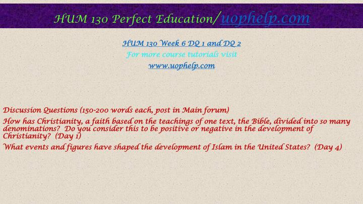 hum 130 week 7 Snaptutorial is a online tutorial store we provides hum 130 week 5 assignment judaism presentation hum 130 week 7 assignment jesus and mohammed paper.