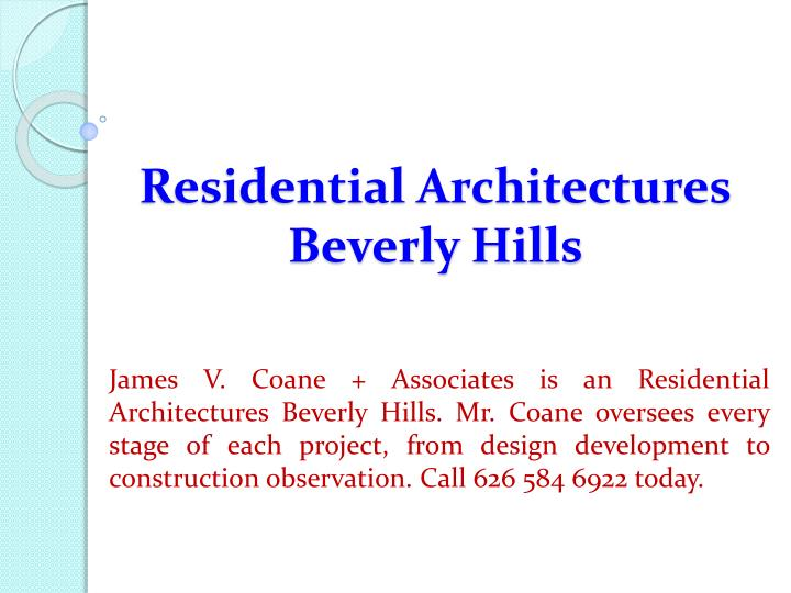 residential architectures beverly hills n.
