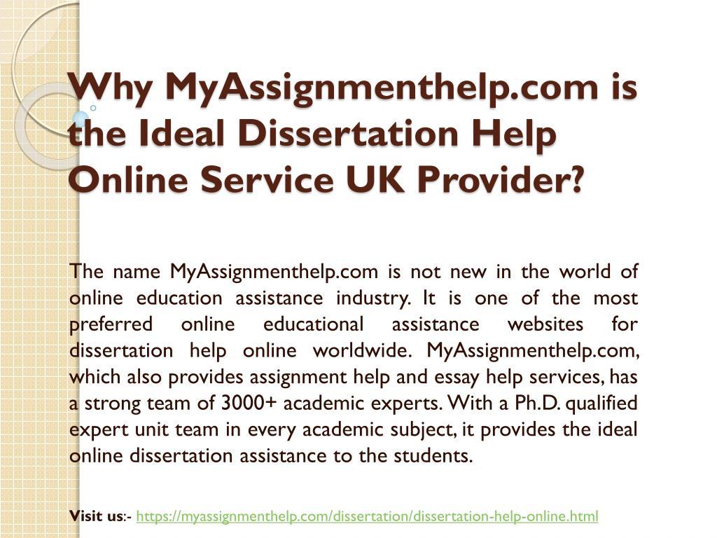 Dissertation services uk online