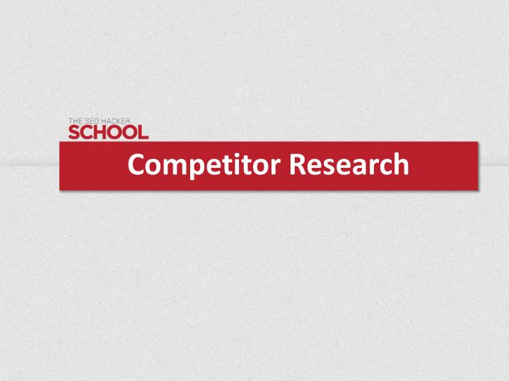 competitor research n.
