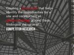 creating a framework that helps identify1