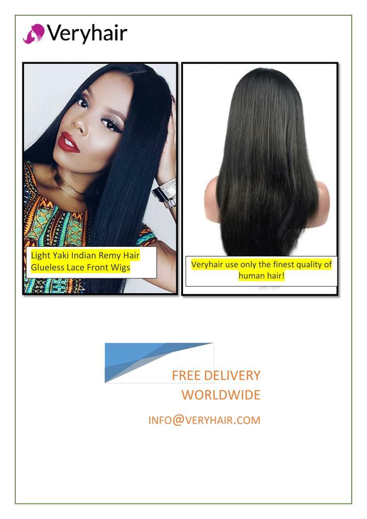 light yaki indian remy hair glueless lace front n.