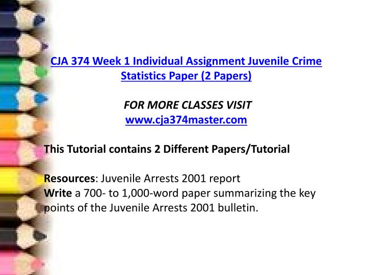 juvenile crime statistics paper Below given is an essay example on juvenile crime that you may find useful if looking for an argumentative paper dealing with controversial legal issues.