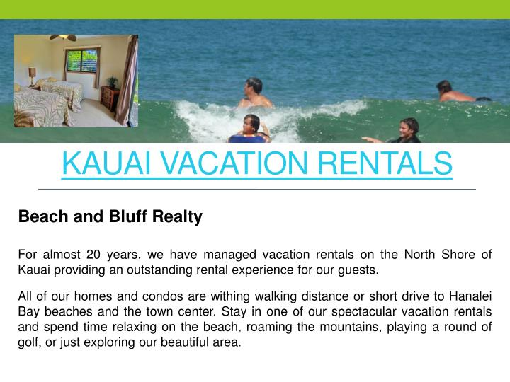 kauai vacation rentals n.