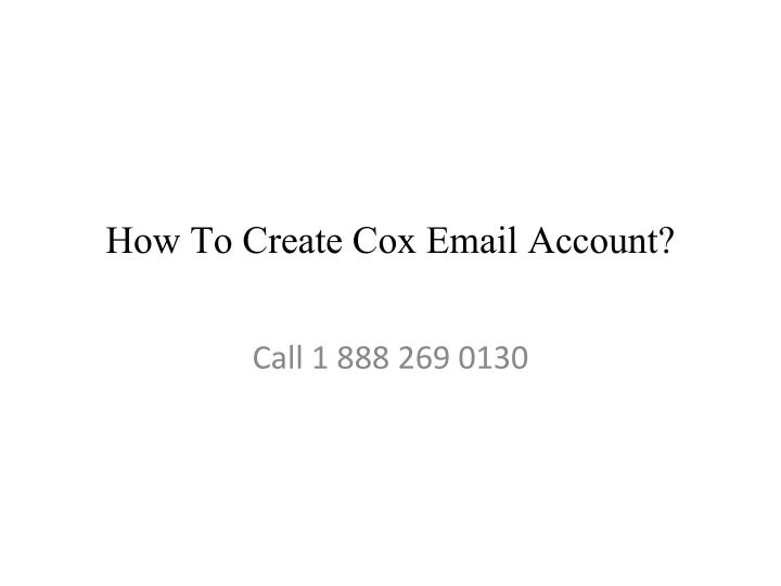 how to create cox email account n.