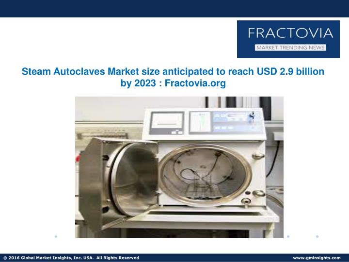 steam autoclaves market size anticipated to reach n.