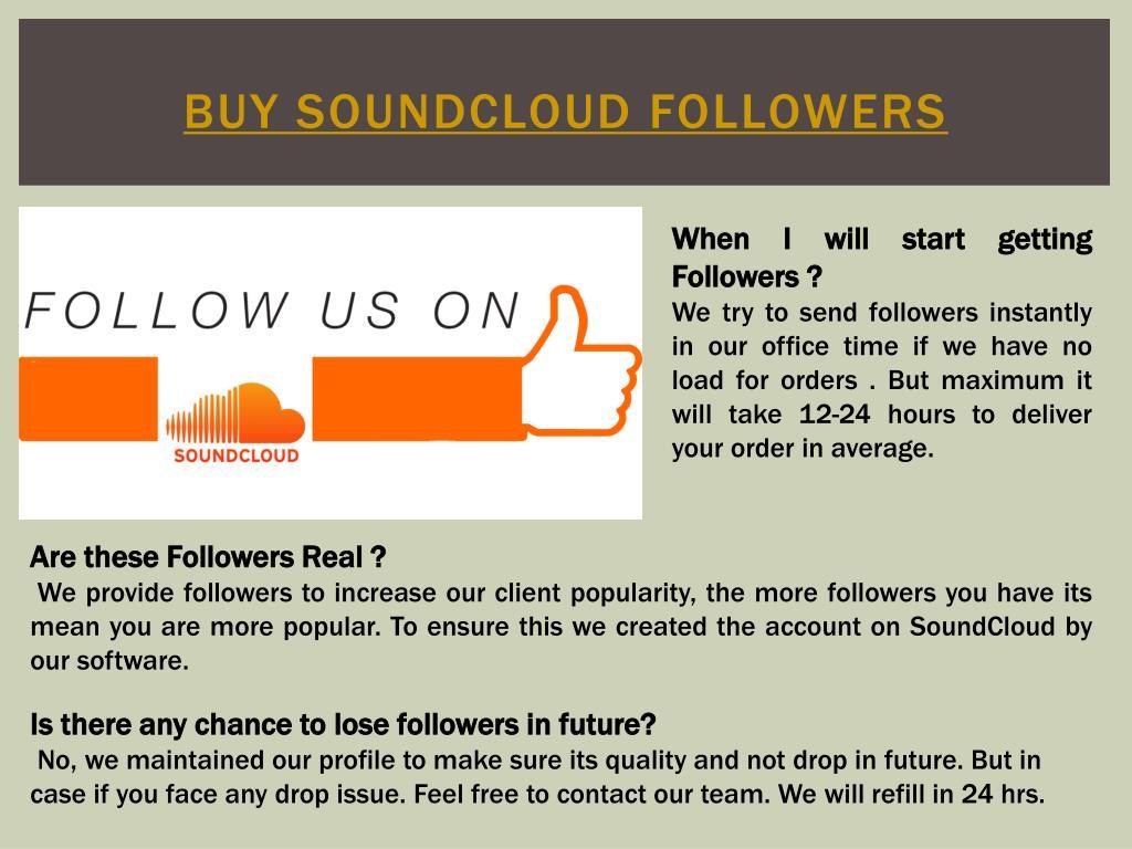 PPT - Buy soundcloud followers PowerPoint Presentation - ID:7522244