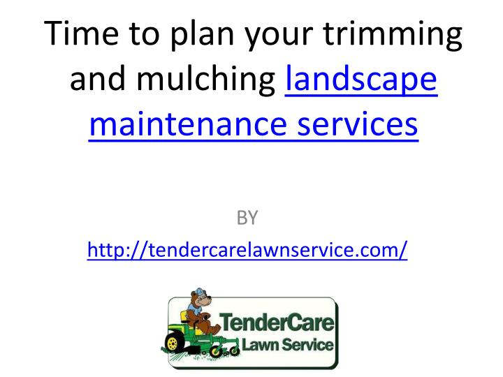 time to plan your trimming and mulching landscape n.