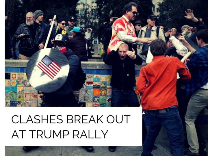 conflicts break out at trump rally n.