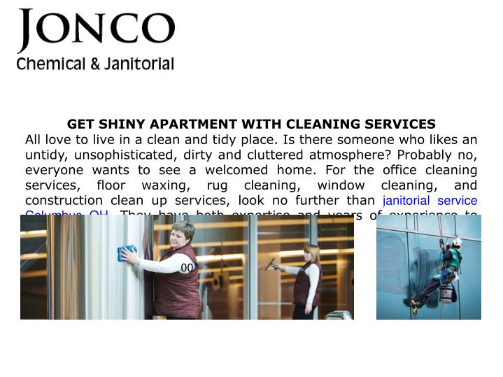 get shiny apartment with cleaning services n.