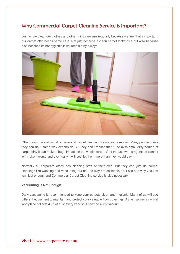 why commercial carpet cleaning service n.
