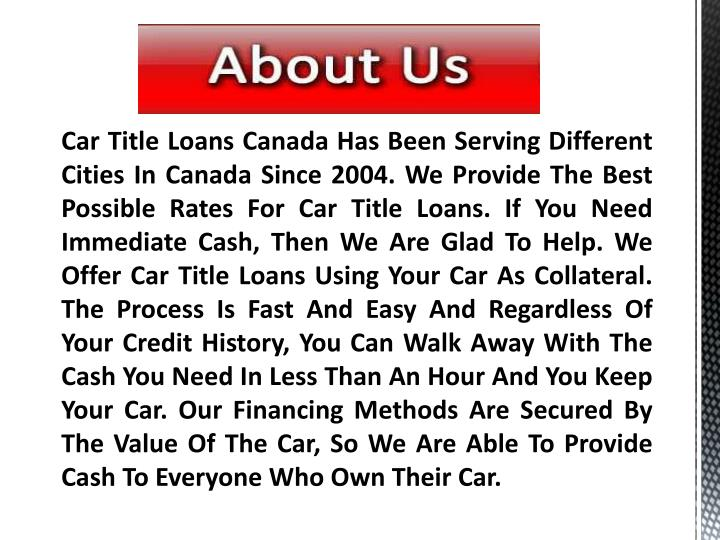 Personal Loans Secured By Car Title