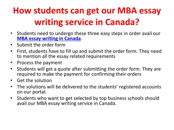 Essay writers in canada