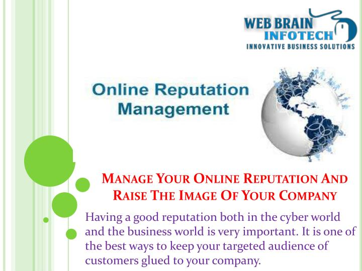 manage your online reputation and raise the image of your company n.