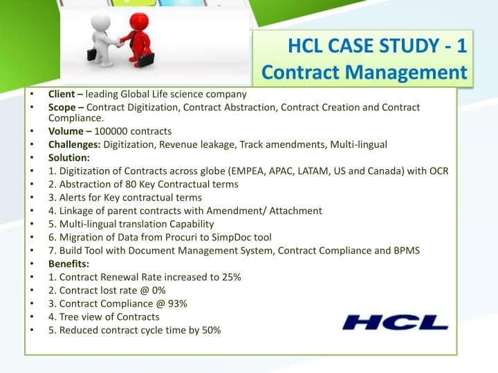 hcl case summary
