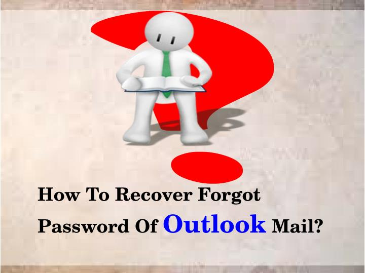 how to recover forgot password of outlook mail n.