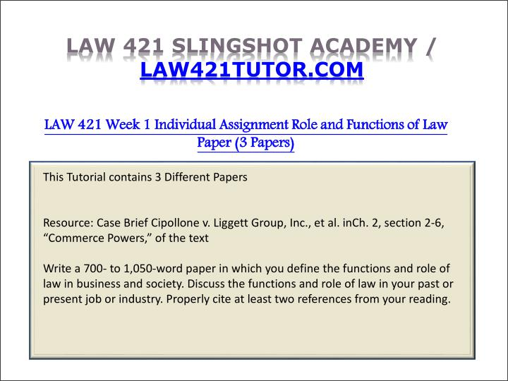 law421 week 4 ind assignment Law 421 week 2 team assignment essay of acc 421 week 4 individual assignment contains of: individual assignments from the.