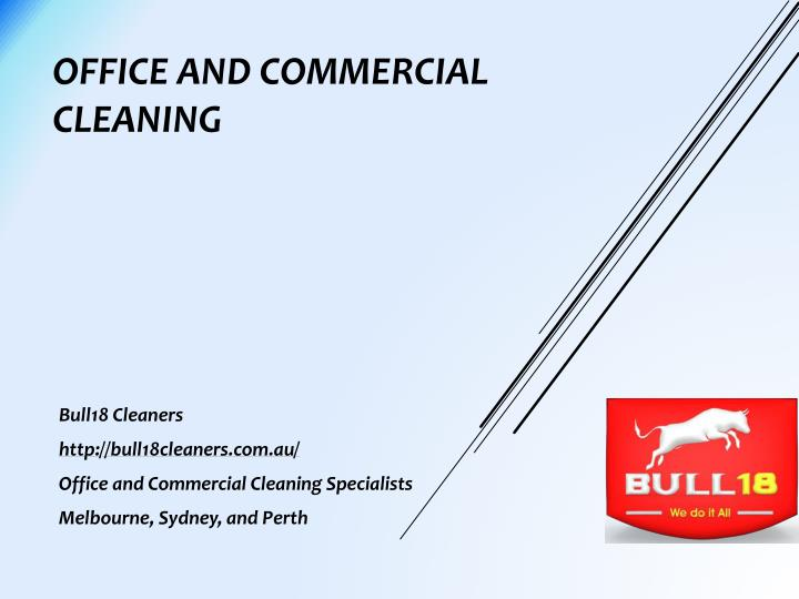 office and commercial cleaning n.