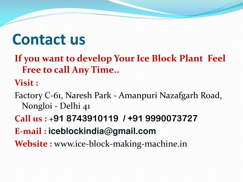 PPT - ice plant manufacturers in Delhi PowerPoint